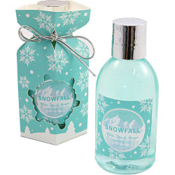 Set SNOWFALL (12x7x6 cm), Gel douche 150ml senteur : Thé blanc & Gingembre