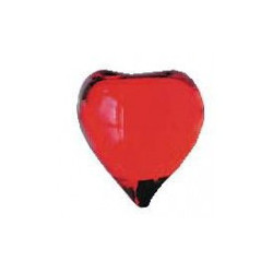 Perle coeur rouge transparent N° LOT M1802HRS