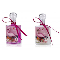Bain moussant CAPRI Blanc neige & Fuchsia transparent - 200ml Bullechic