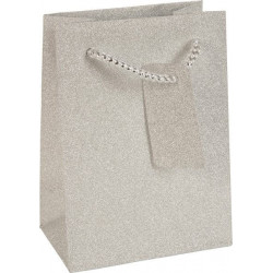 Sac en papier Argent brillant Tentation Cosmetic
