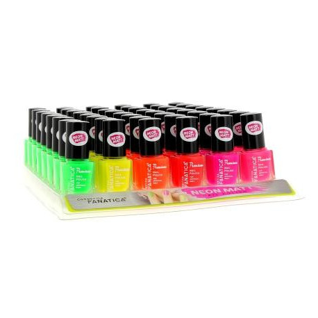 Vernis à ongles NEON MATT, 6 couleurs assortis, en display