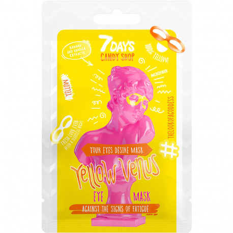 7 DAYS CANDY SHOP Patch pour les yeux YELLOW VENUS