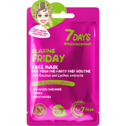 7 DAYS Masque soin visage en tissu BLAZING FRIDAY (Vendredi Hot)