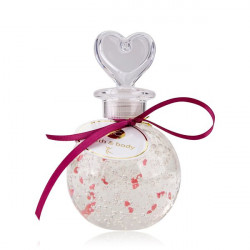 Bain moussant JADE 250ml Transparent à paillettes cœurs roses